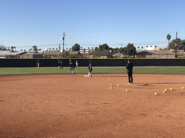 Bourgade Catholic softball team run team drills during their Friday practice (Photo by: Erica Morris/AZPresps365)