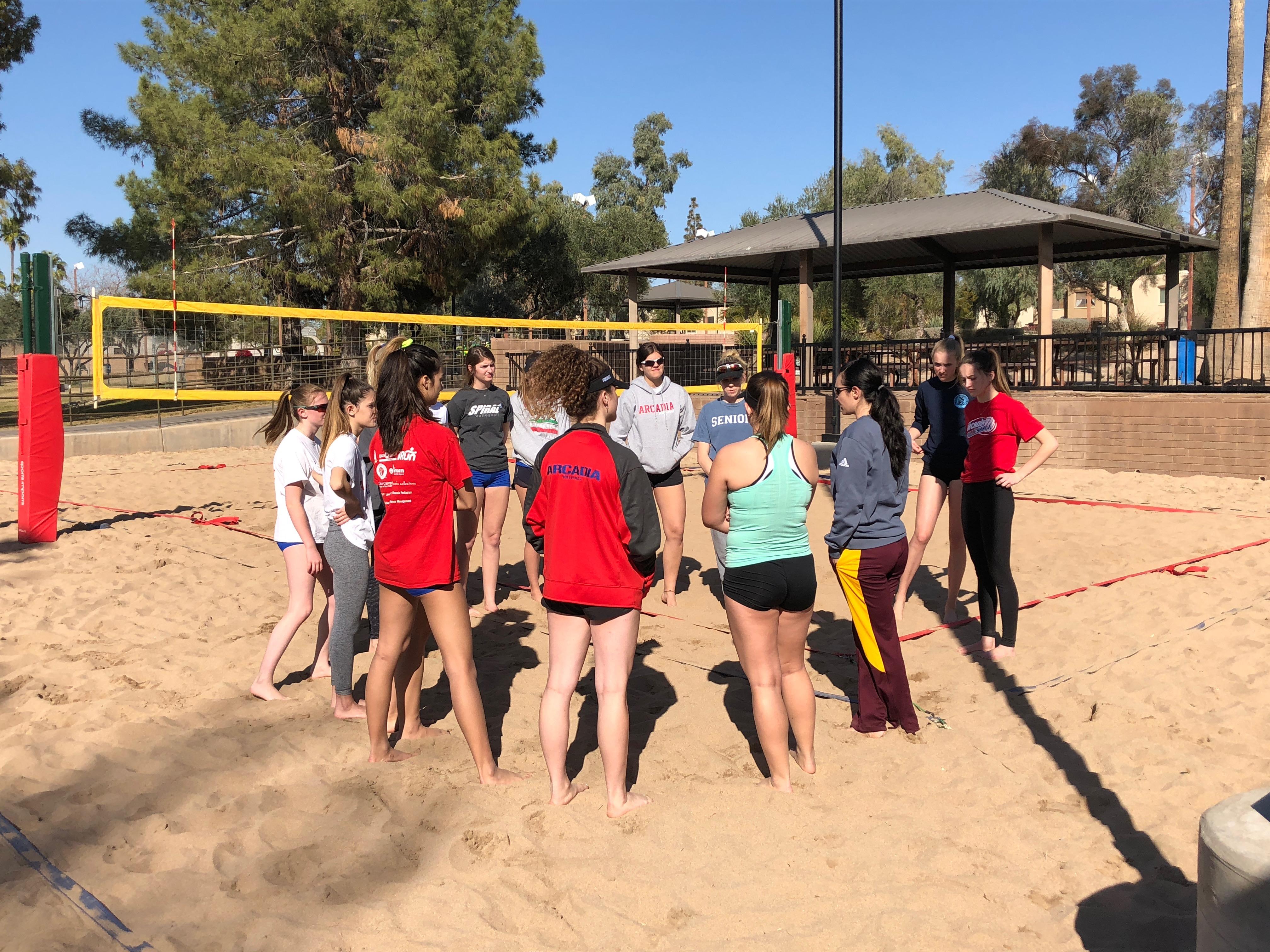 Arcadia Beach Volleyball Aims For First Winning Season Azpreps365